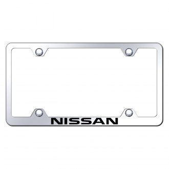 Autogold® - Wide Body Chrome License Plate Frame with Laser Etched Nissan Logo