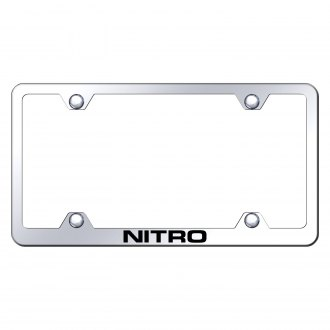 Autogold® - Wide Body Chrome License Plate Frame with Laser Etched Nitro Logo