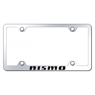 Autogold® - Wide Body Chrome License Plate Frame with Laser Etched NISMO Logo