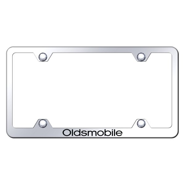 Autogold® - Wide Body License Plate Frame with Laser Etched Oldsmobile Logo