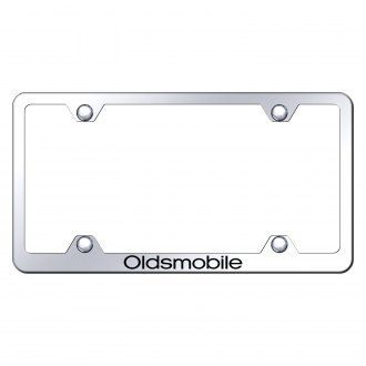 Autogold® - Wide Body Chrome License Plate Frame with Laser Etched Oldsmobile Logo