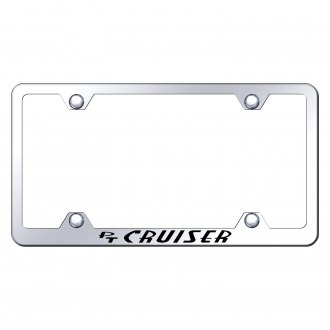 Autogold® - Wide Body Chrome License Plate Frame with Laser Etched PT Cruiser Logo