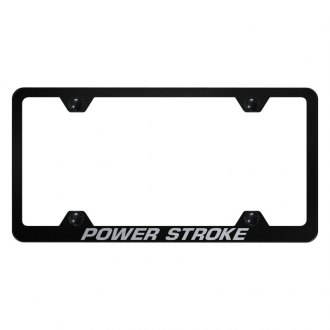 Autogold® - Wide Body License Plate Frame with Laser Etched Power Stroke Logo