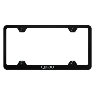 Autogold® - Wide Body License Plate Frame with Laser Etched QX80 Logo