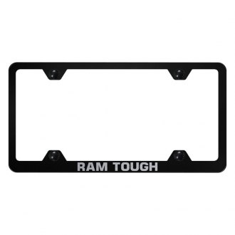 Autogold® - Wide Body License Plate Frame with Laser Etched Tough Ram Logo