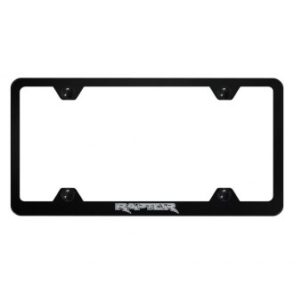 Autogold® - Wide Body License Plate Frame with Laser Etched Raptor Logo