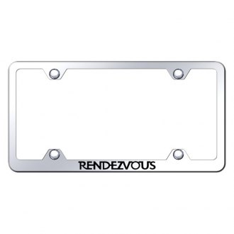 Autogold® - Wide Body Chrome License Plate Frame with Laser Etched Rendezvous Logo