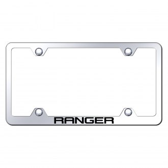 Autogold® - Wide Body Chrome License Plate Frame with Laser Etched Ranger Logo