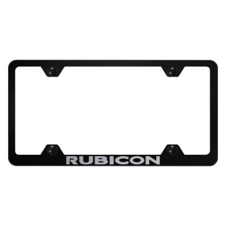 Autogold® - Wide Body License Plate Frame with Laser Etched Rubicon Logo