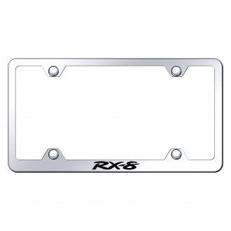 Autogold® - Wide Body Chrome License Plate Frame with Laser Etched RX-8 Logo
