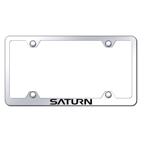 Autogold® - Wide Body License Plate Frame with Laser Etched Saturn Logo