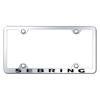 Autogold® - Wide Body Chrome License Plate Frame with Laser Etched Sebring Logo
