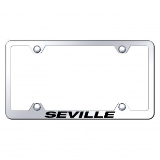 Autogold® - Wide Body Chrome License Plate Frame with Laser Etched Seville Logo
