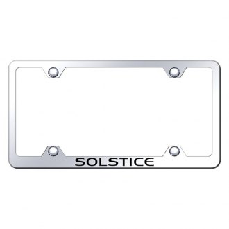 Autogold® - Wide Body Chrome License Plate Frame with Laser Etched Solstice Logo
