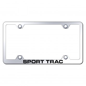 Autogold® - Wide Body Chrome License Plate Frame with Laser Etched Sport Trac Logo