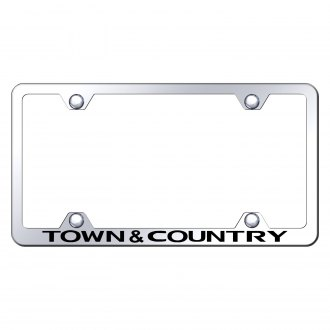 Autogold® - Wide Body Chrome License Plate Frame with Laser Etched Town & Country Logo
