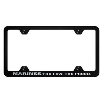 Autogold® - Wide Body License Plate Frame with Laser Etched The Few The Proud Logo