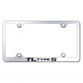 Autogold® - Wide Body Chrome License Plate Frame with Laser Etched TL Type S Logo