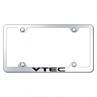 Autogold® - Wide Body Chrome License Plate Frame with Laser Etched VTEC Logo