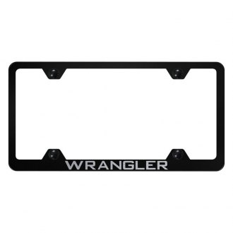 Autogold® - Wide Body License Plate Frame with Laser Etched Wrangler Logo