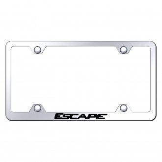 Autogold® - Wide Body Chrome License Plate Frame with Laser Etched Escape Logo