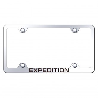 Autogold® - Wide Body Chrome License Plate Frame with Laser Etched Expedition Logo