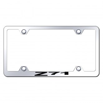 Autogold® - Wide Body Chrome License Plate Frame with Laser Etched Z71 Logo