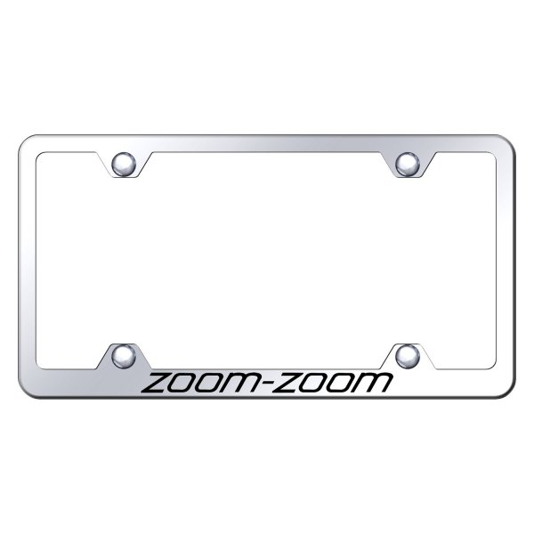 Autogold® - Wide Body License Plate Frame with Laser Etched Zoom-Zoom Logo