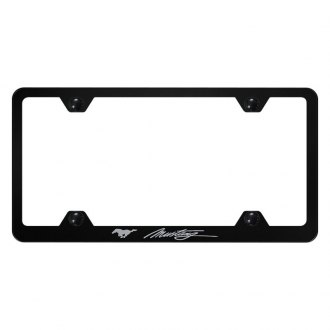 Autogold® - Wide Body License Plate Frame with Script Laser Etched Mustang Logo