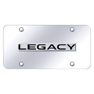 Autogold® - Chrome License Plate with Chrome Legacy Logo