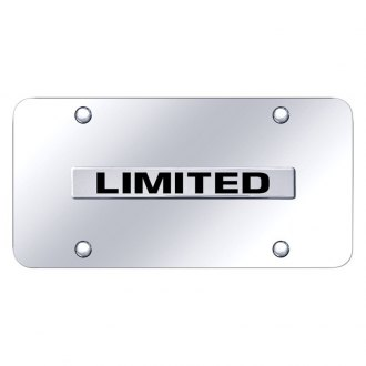 Autogold® - Chrome License Plate with 3D Chrome Limited Logo