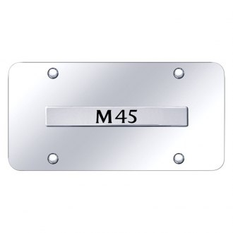 Autogold® - Chrome License Plate with Chrome M45 Logo