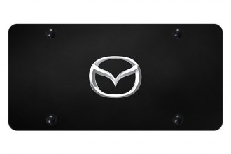 Autogold® - License Plate with 3D Mazda New Emblem
