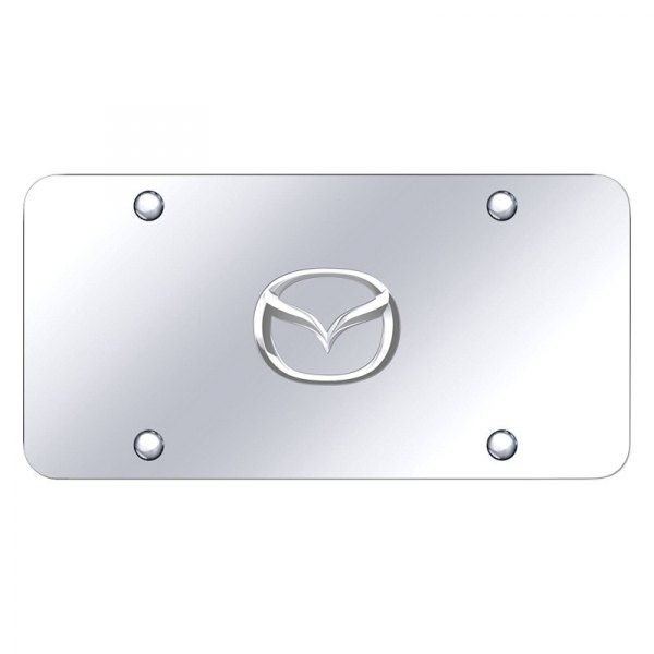 Autogold® - License Plate with Mazda New Logo