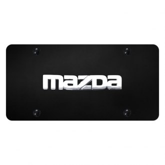 Autogold® - License Plate with 3D Mazda Logo