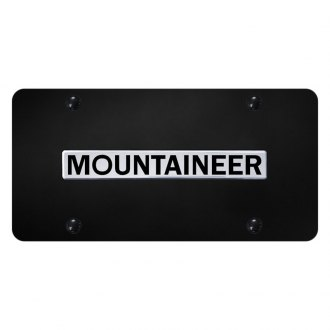 Autogold® - License Plate with Mountaineer Logo
