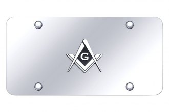 Autogold® - License Plate with 3D Mason Logo