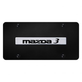 Autogold® - License Plate with 3D Chrome Mazda 3 Logo