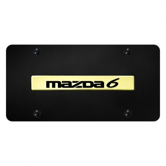 Autogold® - License Plate with 3D Mazda 6 Logo