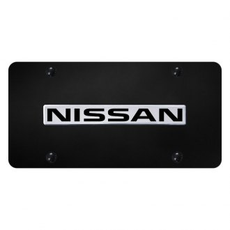 Autogold® - License Plate with Chrome Nissan Logo