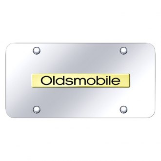 Autogold® - Chrome License Plate with Oldsmobile Logo