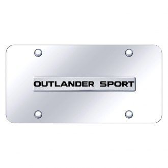 Autogold® - Chrome License Plate with Chrome Outlander Sport Logo