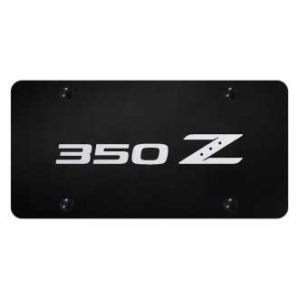 Autogold® - Black License Plate with 350Z Logo