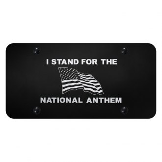 Autogold® - License Plate with Laser Etched I Stand For The Anthem Logo
