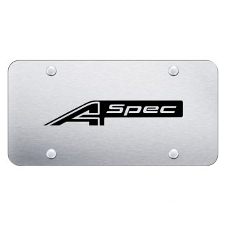 Autogold® - License Plate with Laser Etched A Spec Logo