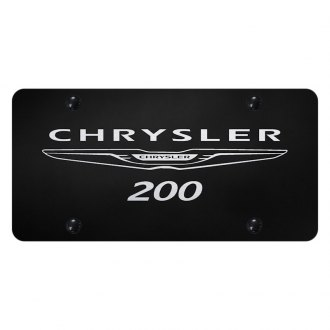 Autogold® - License Plate with Laser Etched Chrysler 200 Logo