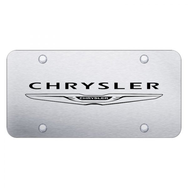 Autogold® - License Plate with Laser Etched Chrysler Logo and New Emblem