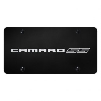 Autogold® - Black License Plate with Laser Etched Camaro SS Logo