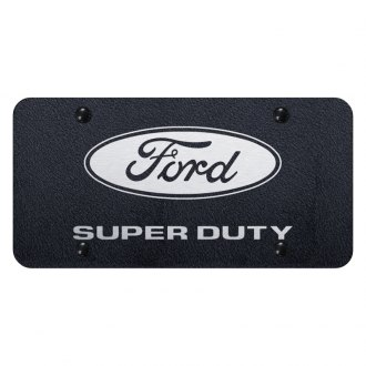 Autogold® - Rugged Black License Plate with Laser Etched Super Duty Logo