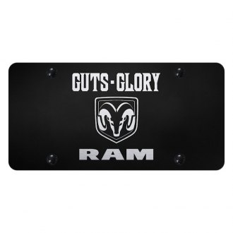 Autogold® - License Plate with Laser Etched Guts-Glory-Ram Logo